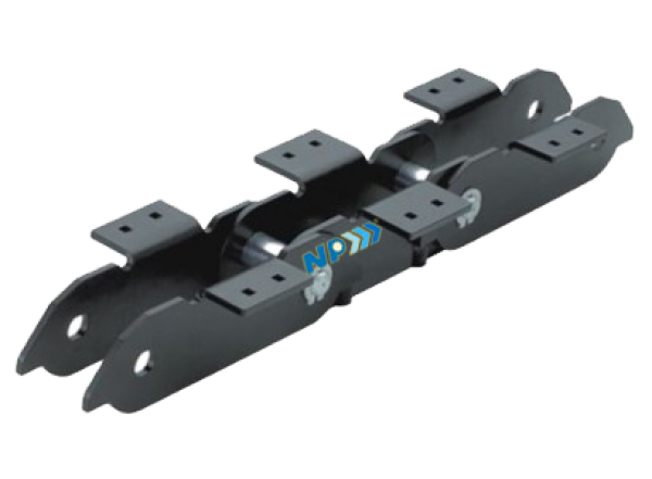 Pan conveyor chain with non-back bending device